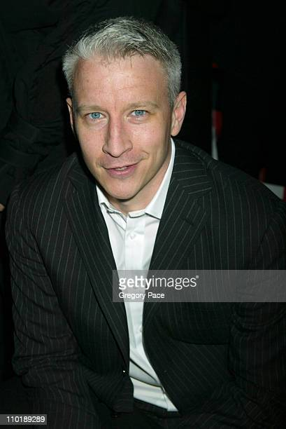 Anderson Cooper CNN Anchor Person during Olympus Fashion Week Fall 2004 Diane Von Furstenberg Front Row at 389 West 12th Street in New York New York...