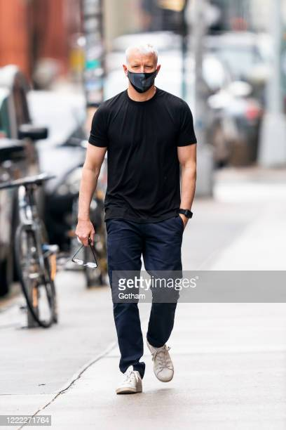 Anderson Cooper is seen in the West Village on May 01, 2020 in New York City.