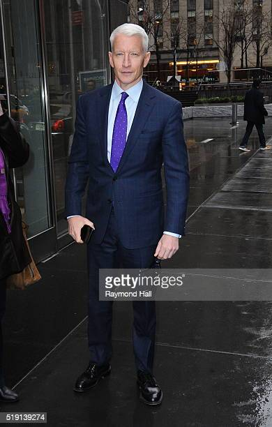 Anderson Cooper is seen walking in Soho on April 4 2016 in New York City