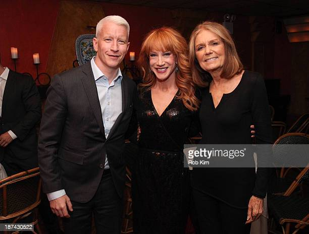 Anderson Cooper Kathy Griffin and Gloria Steinem attend Kathy Griffin's Carnegie Hall Performance official after party hosted by Anderson Cooper at...
