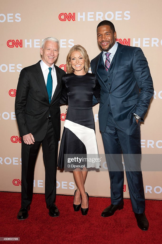Anderson Cooper, Kelly Ripa, and Michael Strahan attend the 2013 CNN Heroes at American Museum of Natural History on November 19, 2013 in New York City.