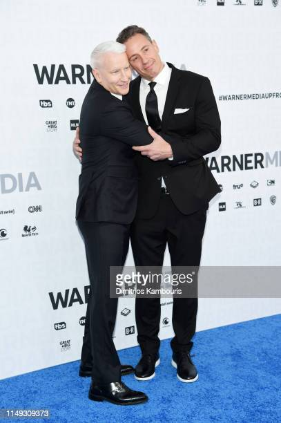 Anderson Cooper of CNN's Anderson Cooper 360° and Chris Cuomo of CNN's Cuomo Prime Time attend the WarnerMedia Upfront 2019 arrivals on the red...