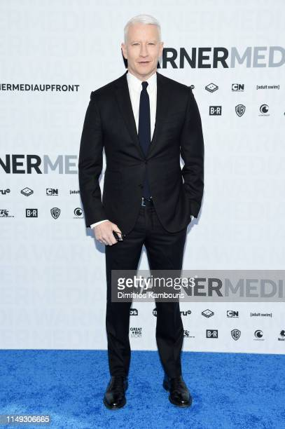 Anderson Cooper of CNN's Anderson Cooper 360° attends the WarnerMedia Upfront 2019 arrivals on the red carpet at The Theater at Madison Square Garden...