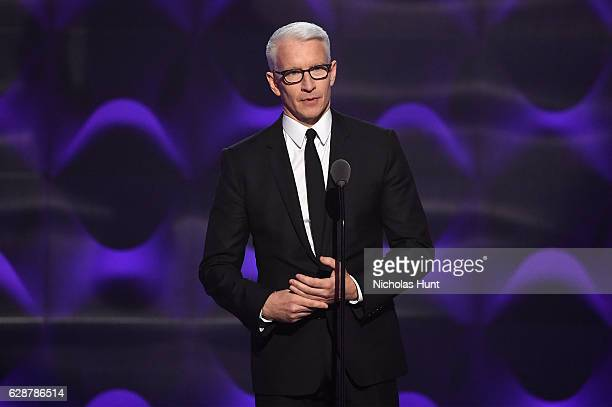 Anderson Cooper presents on stage at the Billboard Women in Music 2016 event on December 9 2016 in New York City
