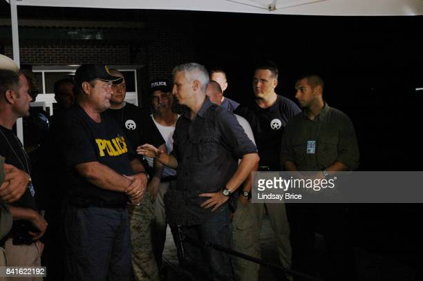 Anderson Cooper reporting for CNN from the aftermath of Hurricane Katrina interviews members of the New Orleans Police Department who remained in the...