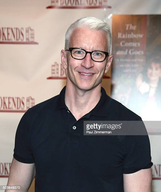 Anderson Cooper signs copies of his new book The Rainbow Comes And Goes at Bookends Bookstore on April 24 2016 in Ridgewood New Jersey