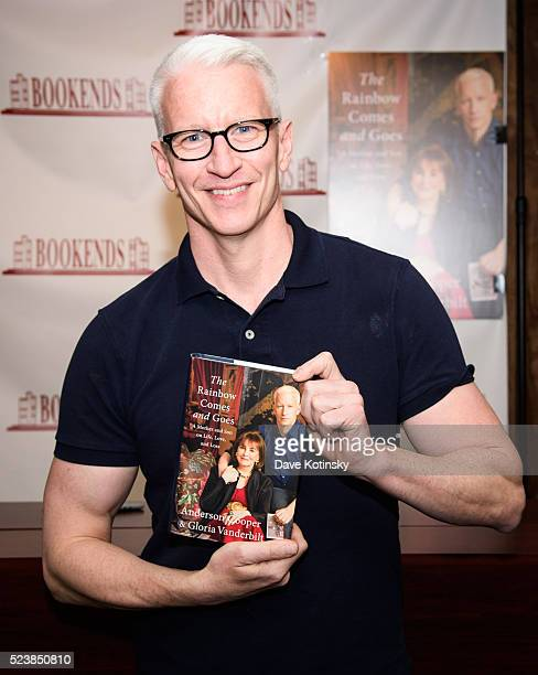 Anderson Cooper signs Copies Of His New Book 'The Rainbow Comes And Goes' at Bookends Bookstore on April 24 2016 in Ridgewood New Jersey