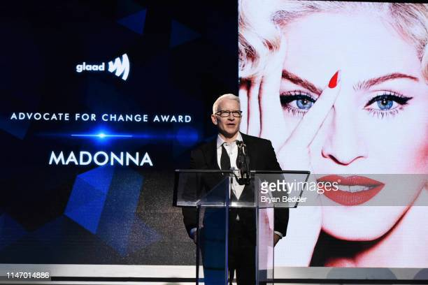 Anderson Cooper speaks onstage during the 30th Annual GLAAD Media Awards New York at New York Hilton Midtown on May 04 2019 in New York City