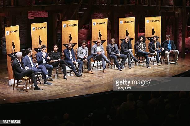 Anderson Cooper speaks with HAMILTON Tony Award nominees: Lin-Manuel Miranda, Thomas Kail, Phillipa Soo, Leslie Odom Jr., Andy Blankenbuehler,...