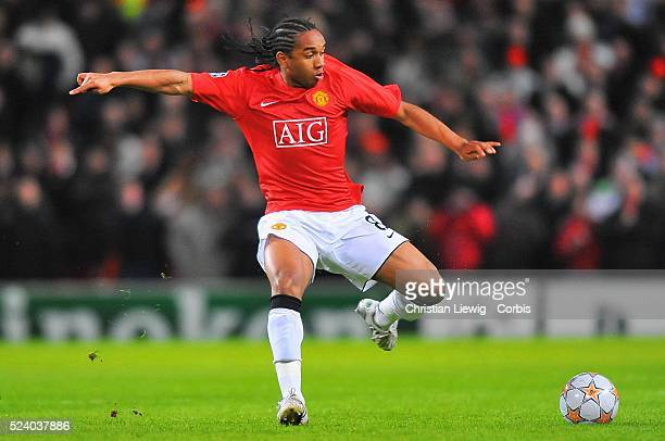 Anderson during the 20072008 Champions League match between Manchester United and Olympique Lyonnais in Manchester