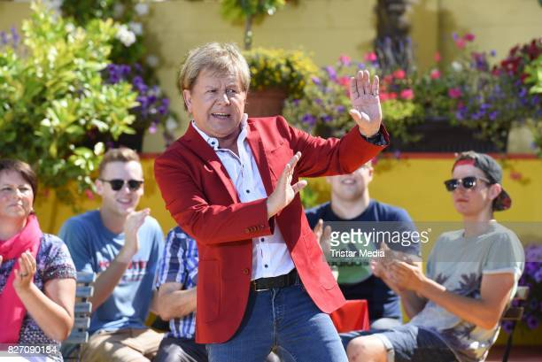 G G Anderson during the ARD Live TV Show 'Immer Wieder Sonntags' at EuropaPark on August 6 2017 in Rust Germany