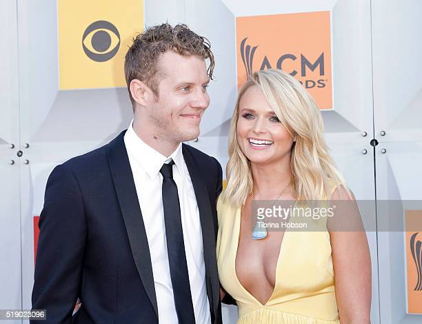 Anderson East and Miranda Lambert attend the 51st Academy of Country Music Awards at MGM Grand Garden Arena on April 3 2016 in Las Vegas Nevada