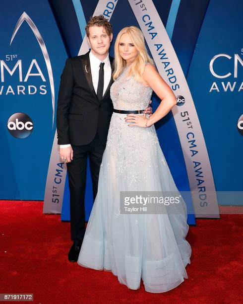 Anderson East and Miranda Lambert attend the 51st annual CMA Awards at the Bridgestone Arena on November 8 2017 in Nashville Tennessee