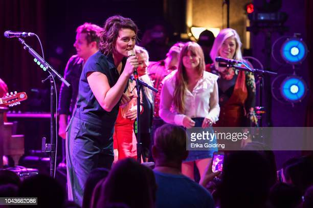 Anderson East Brandi Carlile Courtney Marie Andrews and Liz Longley perform at City Winery on September 23 2018 in Nashville Tennessee Guests...