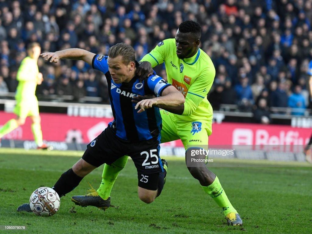 Anderson Esiti Midfielder Of Gent And Ruud Vormer Midfielder