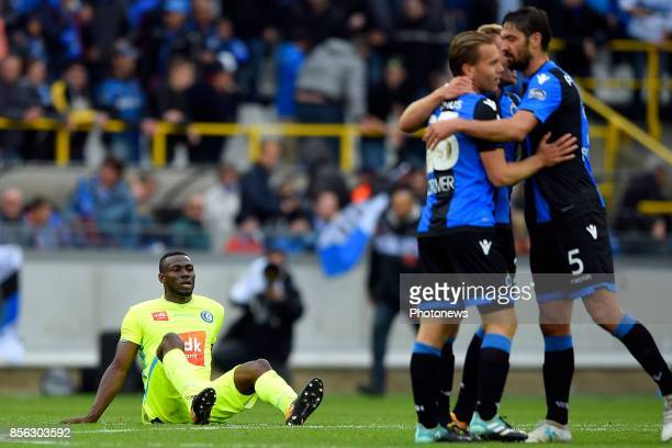 Anderson Esiti midfielder of KAA Gent shows dejection after losing the Jupiler Pro League match between Club Brugge and KAA Gent on October 01 2017...