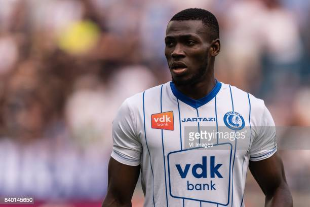 Anderson Esiti of KAA Gent during the Jupiler Pro League match between KAA Gent and RSC Andelecht at the Ghalemco Arena on August 27 2017 in Gent...