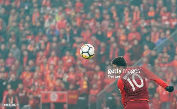 Anderson Hernanes of Hebei China Fortune FC in action during the 2018 Chinese Super League match between Hebei China Fortune and Shandong Luneng...