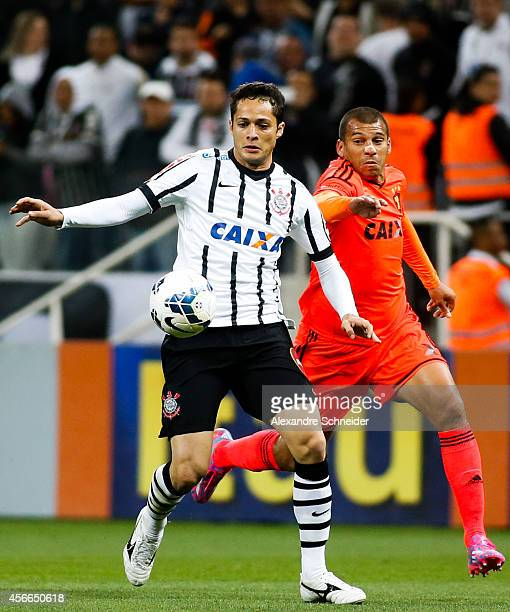 Anderson Martins of Corinthians in action during the match between Corinthians and Sport Recife for the Brazilian Series A 2014 at Arena Corinthians...