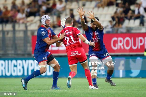 Anderson NEISEN of Aurillac during the Pro D2 match between Grenoble and Aurillac on September 13, 2019 in Grenoble, France.