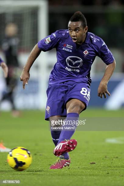 Anderson of ACF Fiorentina in action during the Serie A match between ACF Fiorentina and Atalanta BC at Stadio Artemio Franchi on February 8 2014 in...