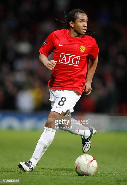 Anderson of Manchester United during the Group E UEFA Champions League match between Manchester United and Celtic at Old Trafford Manchester UK
