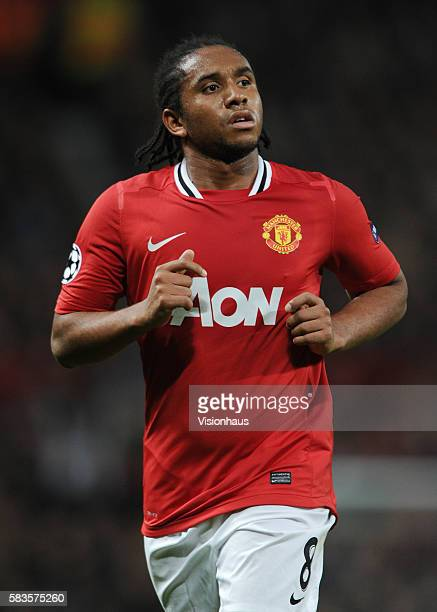 Anderson of Manchester United during the UEFA Champions League Group C match between Manchester United and FC Otelul Galati at Old Trafford...