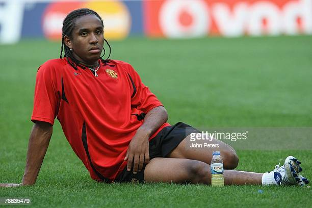 Anderson of Manchester United in action during a First Team training session at Jose Alvalade Stadium on September 18 2007 in Lisbon Portugal