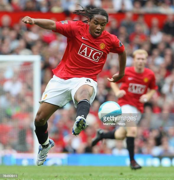 Anderson of Manchester United in action during the Barclays FA Premier League match between Manchester United and Sunderland at Old Trafford on...