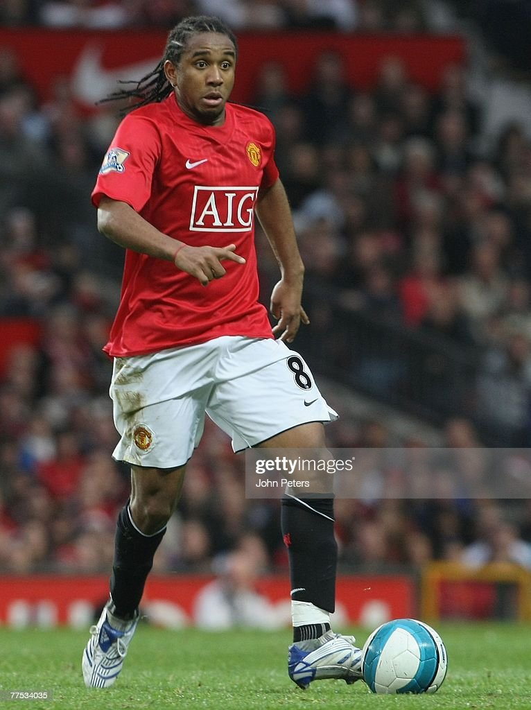 Anderson of Manchester United in action during the Barclays FA Premier League match between Manchester United and Middlesbrough at Old Trafford on October 27 2007 in Manchester, England.