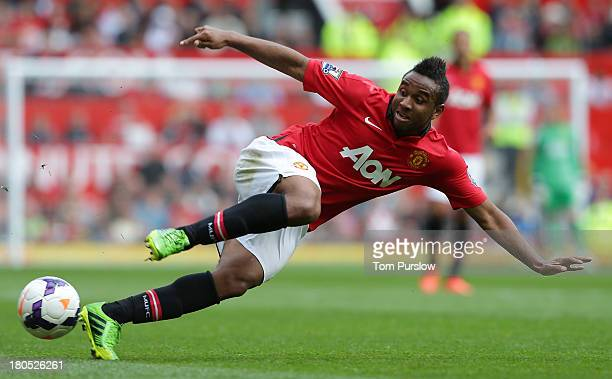 Anderson of Manchester United in action during the Barclays Premier League match between Manchester United and Crystal Palace at Old Trafford on...