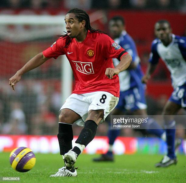 Anderson of Manchester United in action during the Barclays Premier League match between Manchester United and Birmingham City at Old Trafford on...