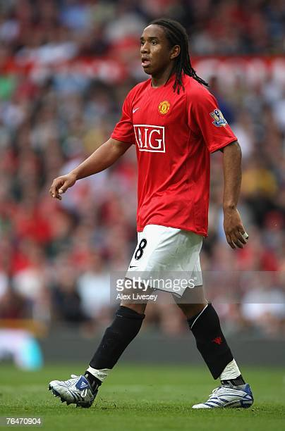 Anderson of Manchester United in action during the Barclays Premier League match between Manchester United and Sunderland at Old Trafford on...