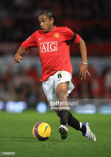 Anderson of Manchester United in action during the Barclays Premier League match between Manchester United and Blackburn Rovers at Old Trafford on...