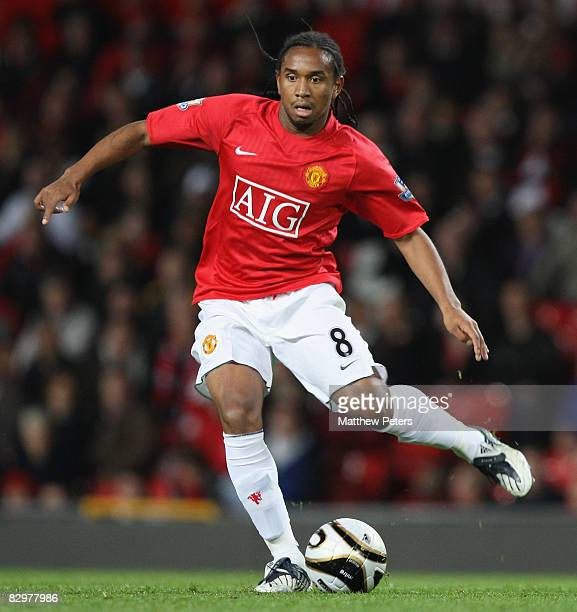 Anderson of Manchester United in action during the Carling Cup third round match between Manchester United and Middlesbrough at Old Trafford on...