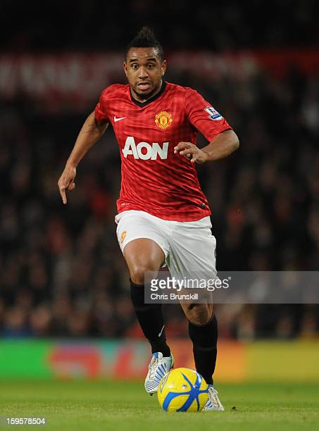 Anderson of Manchester United in action during the FA Cup with Budweiser Third Round Replay match between Manchester United and West Ham United at...