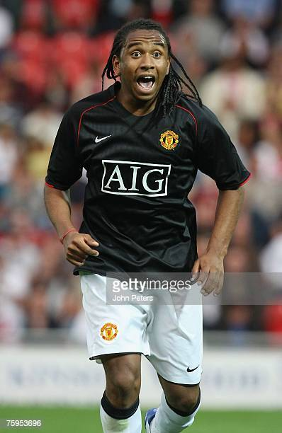 Anderson of Manchester United in action during the preseason friendly match between Doncaster Rovers and Manchester United at Keepmoat Stadium on...