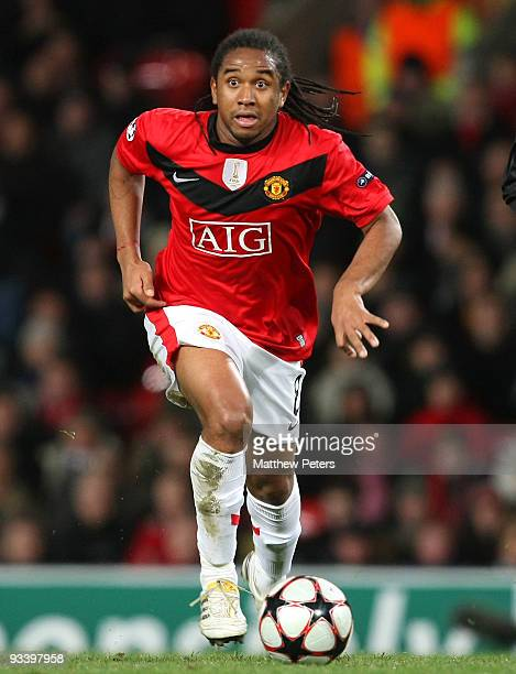 Anderson of Manchester United in action during the UEFA Champions League group B match between Manchester United and Besiktas at Old Trafford on...