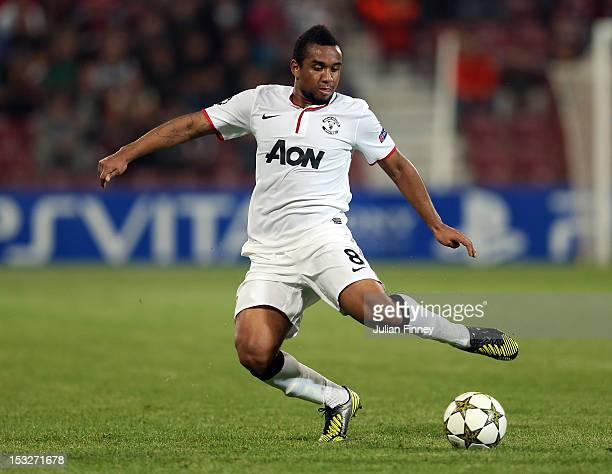 Anderson of Manchester United in action during the UEFA Champions League Group H match between CFR 1907 Cluj and Manchester United at the Constantin...