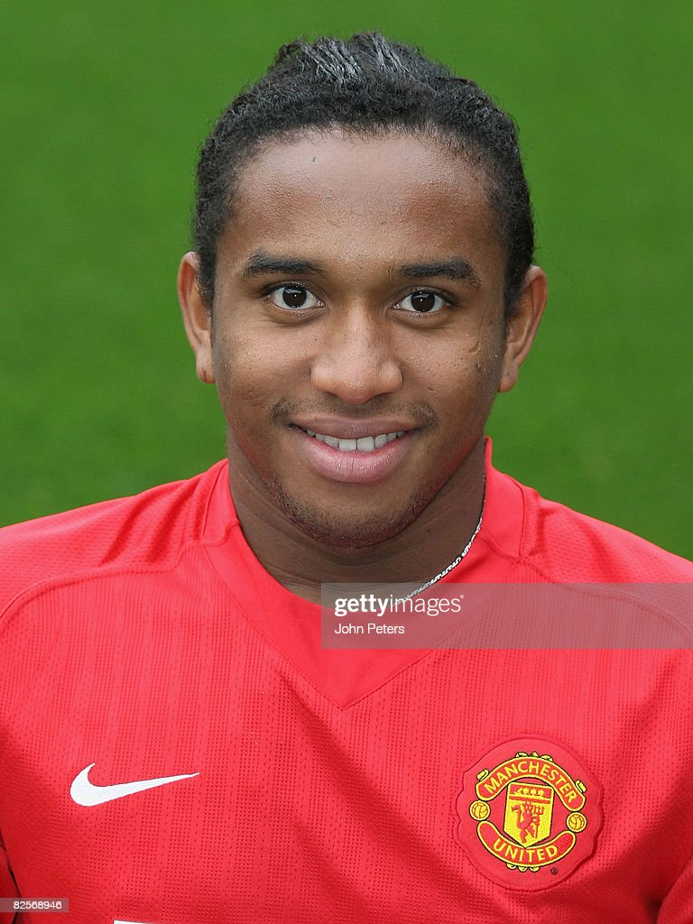 Anderson of Manchester United poses during the club's official annual photocall at Old Trafford on August 27 2008 in Manchester, England.