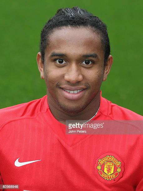 Anderson of Manchester United poses during the club's official annual photocall at Old Trafford on August 27 2008 in Manchester England