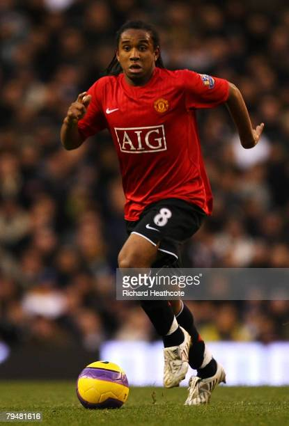 Anderson of United in action during the Barclays Premier League match between Tottenham Hotspur and Manchester United at White Hart Lane on February...