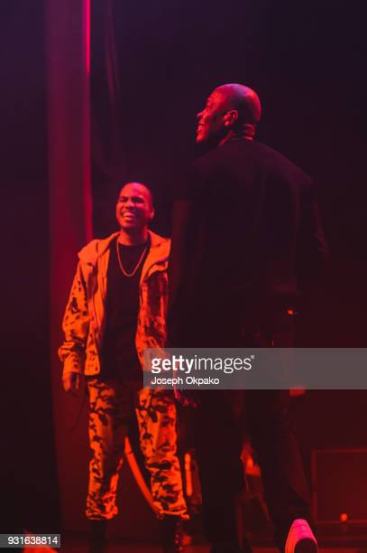 Anderson Paak and Dr Dre perform at Brixton Academy on March 13 2018 in London England