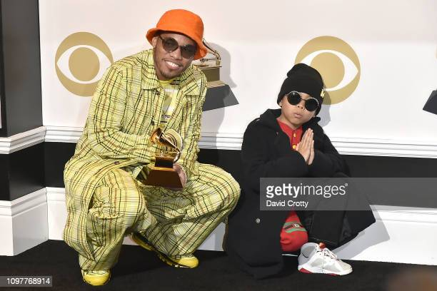 Anderson Paak and Soul Rasheed attend the 61st Annual Grammy Awards Press Room at Staples Center on February 10 2019 in Los Angeles California