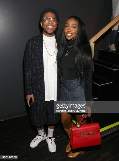 Anderson Paak and SZA are seen backstage at the 2018 BET Awards at Microsoft Theater on June 24 2018 in Los Angeles California