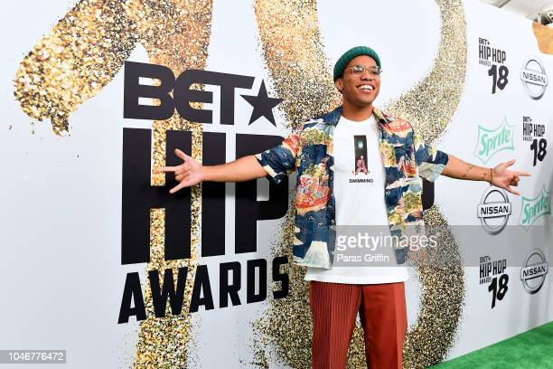 Anderson Paak arrives at the BET Hip Hop Awards 2018 at Fillmore Miami Beach on October 6 2018 in Miami Beach Florida