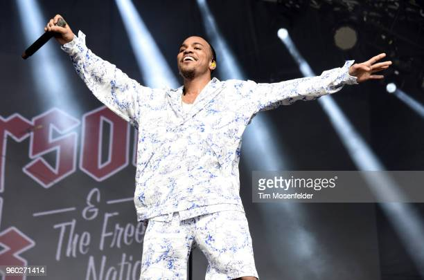 Anderson Paak of Anderson Paak the Free Nationals performs during the 2018 Hangout Festival on May 19 2018 in Gulf Shores Alabama