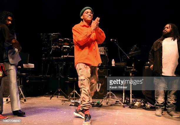 Anderson Paak onstage during Mac Miller A Celebration Of Life Concert Benefiting The Launch Of The Mac Miller Circles Fund at The Greek Theatre on...