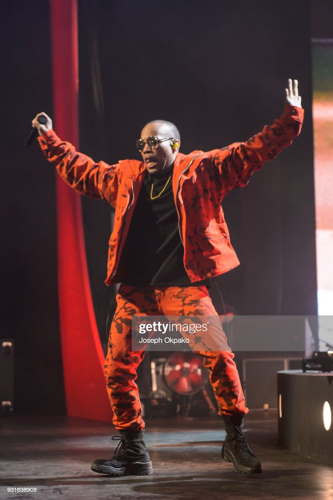 Anderson Paak performs at Brixton Academy on March 13, 2018 in London, England.