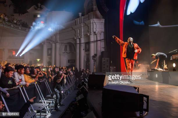 Anderson Paak performs at Brixton Academy on March 13 2018 in London England
